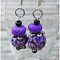 Purple Field, boucles 6€ vendues