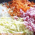 Salade fraicheur aux <b>vermicelles</b> de <b>riz</b>