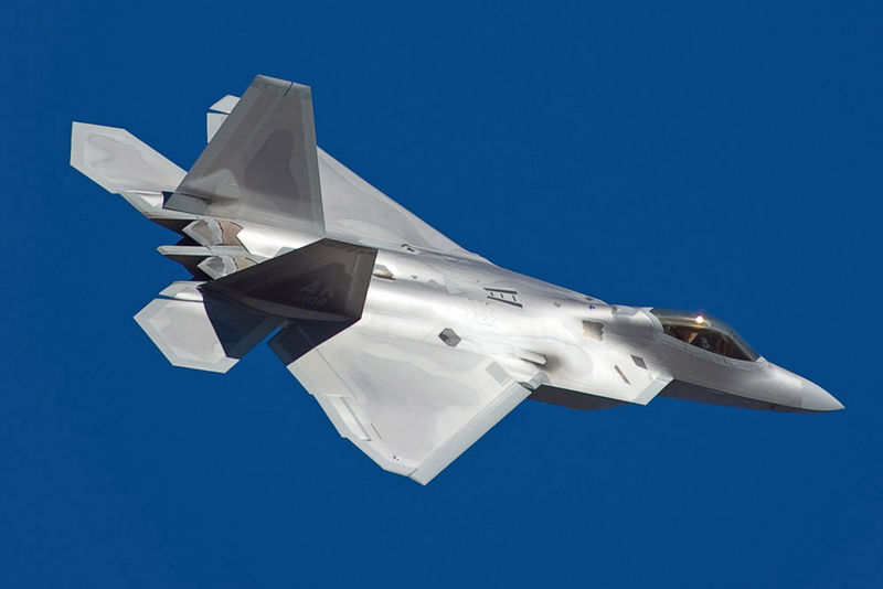 USAF F-22 Raptor 5th generation fighter aircraft