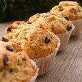 Muffins amandes pépites de chocolat