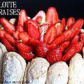 Charlotte aux fraises d'après michalak