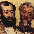 Degas Le général Mellinet et le grand rabbin Astruc