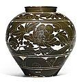 A large 'Cizhou' sgraffiato 'Peony' baluster vase, Song-Jin Dynasty