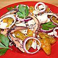Salade portugaise au poulpe