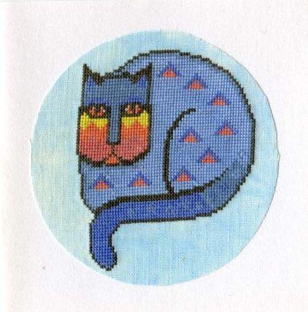 Carte chat - offert a une amie