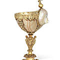 A German silver-gilt-mounted <b>turbo</b>-shell cup, Lüneburg, late 16th-early 17th century