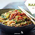 Ramen au kimchi et aux asperges