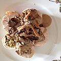 <b>Ballotine</b> de volaille aux champignons