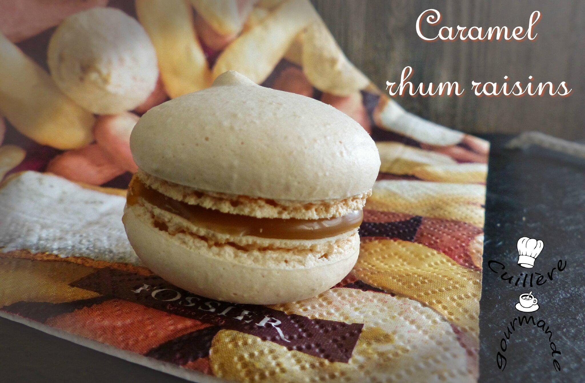macarons cardamome / framboise et cardamome/ caramel rhum raisins