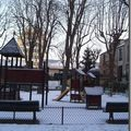 square scipion sous la neige