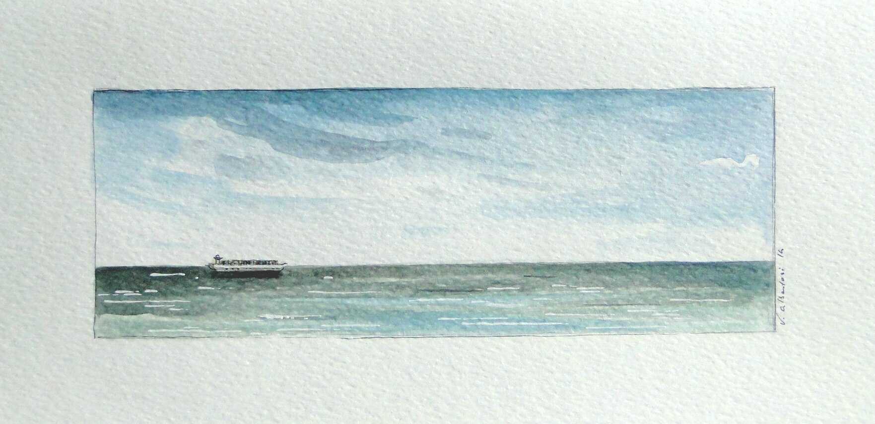 aquarelle ocean mer plage valerie albertosi