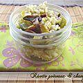 Risotto poireaux et champignons, au mascarpone et parmesan