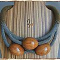 Spirale et perles de bois