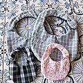 Bavoirs pour bébé et poupée