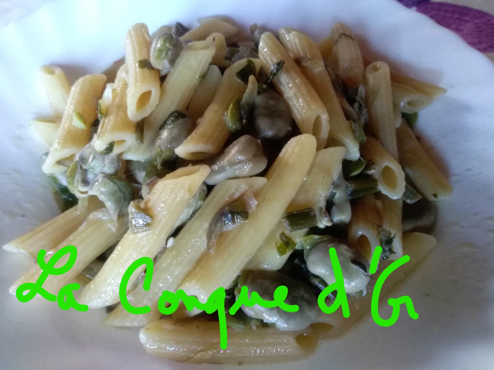 Penne rigate aux fèves et artichauts violets-les recettes de Enzo