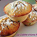 Muffins cranberries et citron sans gluten