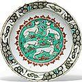 An <b>Iznik</b> pottery dish, Ottoman Turkey, circa 1600
