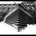 Architecture hopital mc gill en noir et blanc