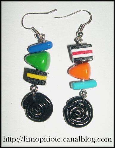 Bijoux pate fimo collier bracelet boucles d oreilles (20)