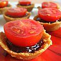 Tartelettes aux spéculoos confit de figues et tomates cerises