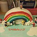 Cuisine: gâteau arc en ciel pour les 4 ans de mon titi