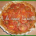 Tarte pesto/tomate