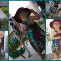 Fleurs hippies sur robe tablier