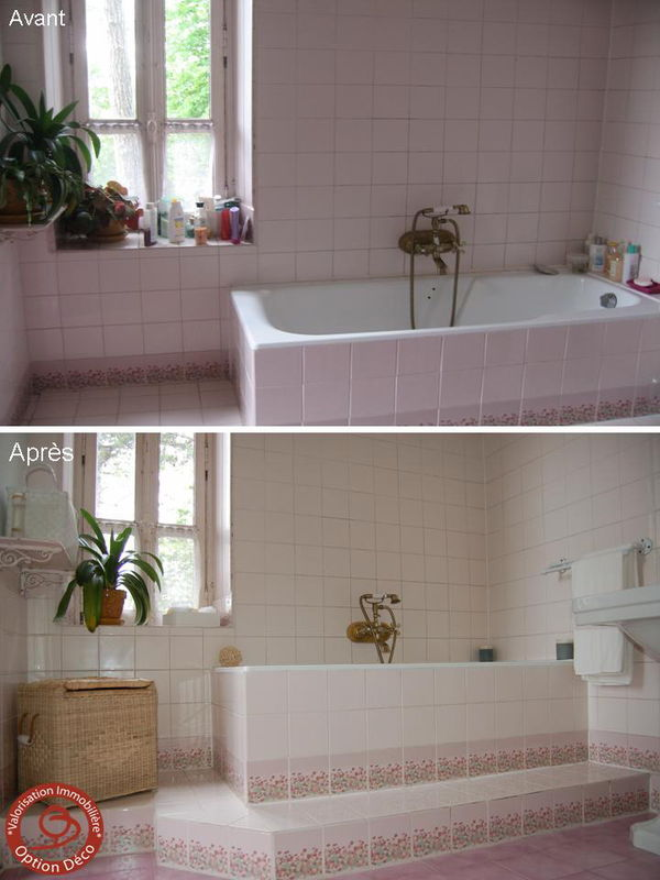 Salle de bain avant apr s photo de home staging avant - Home staging salle de bain ...