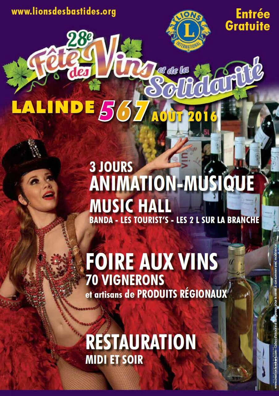 28th Festival of wines and solidarity in Lalinde