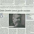 Jean jaurès...il y a 100 ans... (article la terre)