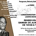 Commemoration lamine dieng samedi 20 juin