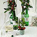 Les bouteilles vases de Noël - rétro bohème - marimerveille