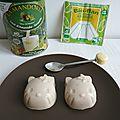 Mini flans diététiques amande noisette à 25 calories (sans oeufs, sans sucre et sans gluten)