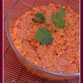 Dip au poivron rouge et noix - muhammara