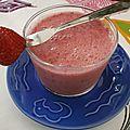 Smoothie fraises framboises