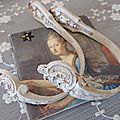 Paire d'embrases shabby chic