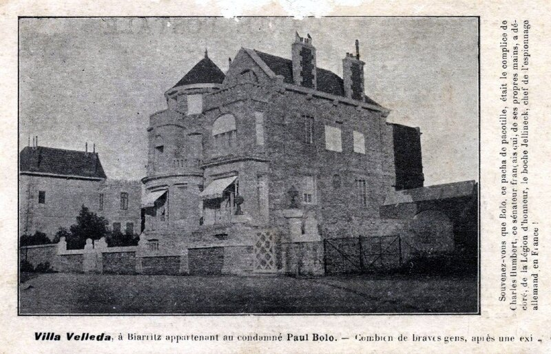 1918-04-19 - Biarriz Villa Velléda de Pachar Bolo