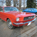 Ford mustang hardtop coupe 1965 orange 01