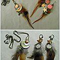 Boucles d'oreille & sautoir collection