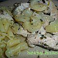 0108 Poulet au fenouil, pâtes et sauce au Pastis 2