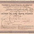 Les Titres financiers (Episode 1) : Les Tramways <b>Electriques</b> de Belfort