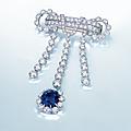 An important sapphire and <b>diamond</b> <b>brooch</b>