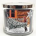 Mahogany teakwood, bath and body works