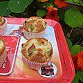 Dessert : muffins moelleux à la rhubarbe
