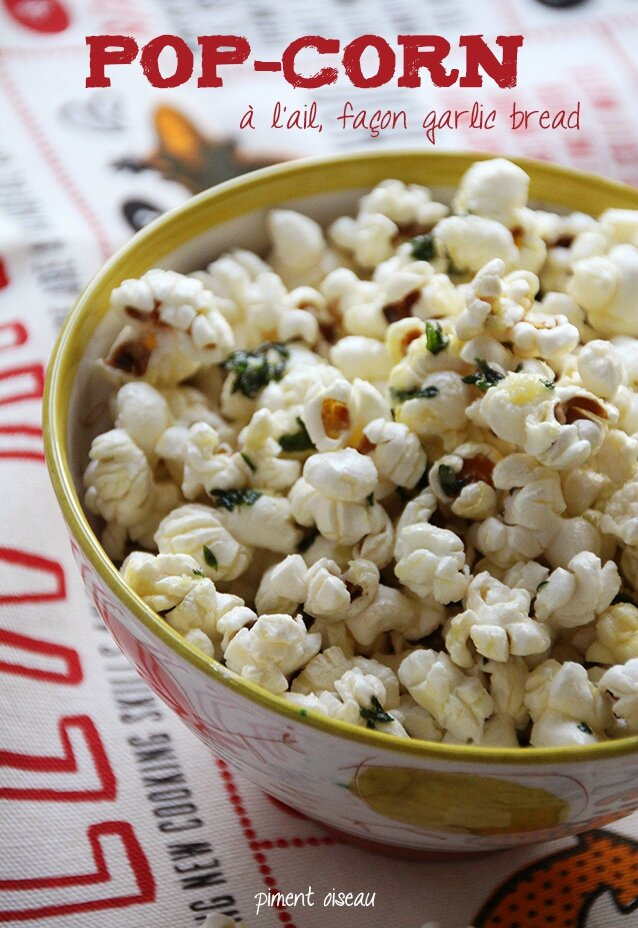 Pop-corn à l'ail, façon garlic bread