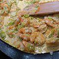 Petite poelée de crevettes au curry