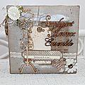 Mini album pour le mariage de ma cousine ....