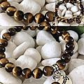 Une de pierres gemmes préférée par les gens - perle œil de <b>tigre</b>
