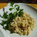 Risotto courgettes gorgonzola
