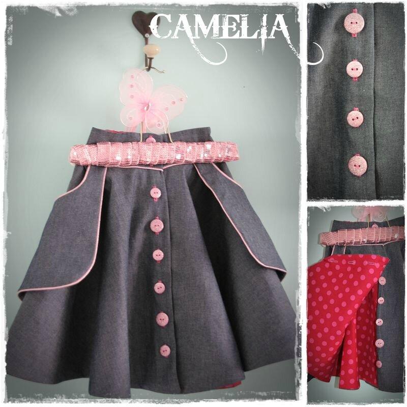 une nouvelle tenue : jupe camélia & pretty basic